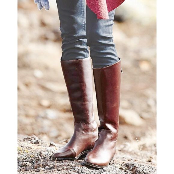 Cole Haan Shoes - Cole Haan💕Arlington Riding Cognac Leather Boots